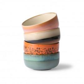 hk living set de 4 bols a dessert ceramique multicolore