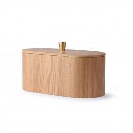 hk living jolie boite rangement en bois chic couvercle poignee laiton