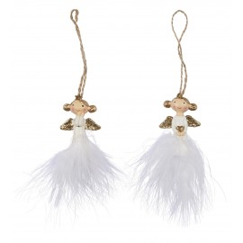 decoration de noel sapin anges en bois plumes ib laursen