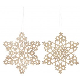 decoration de sapin bois flocons de neige ib laursen