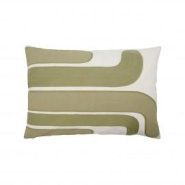 house doctor housse de coussin motif style vintage annees 70 s vert