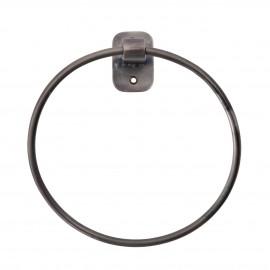 house doctor porte serviette anneau mural metal noir patine pati