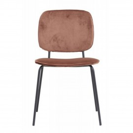 chaise velours house doctor comma rouille