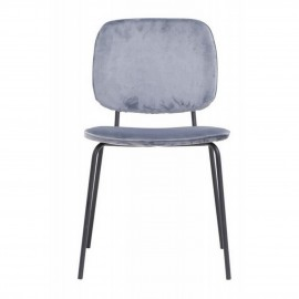 Chaise velours gris House Doctor Comma