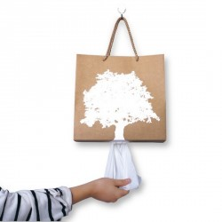 Boite à mouchoirs originale Bag to the nature brun