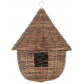 mangeoire pour oiseaux ronde en osier tresse ib laursen