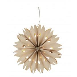 etoile lumineuse style origami 3d papier beige led madam stoltz