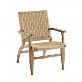 madam stoltz fauteuil bois orme fibre de papier style vintage retro