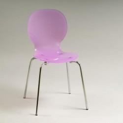 Chaise rose design plexi KTUL