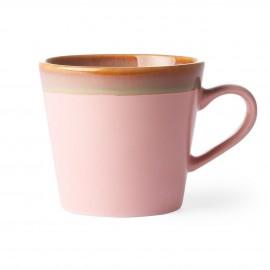 hk living tasse a cafe cappuccino gres rose vintage 70 s
