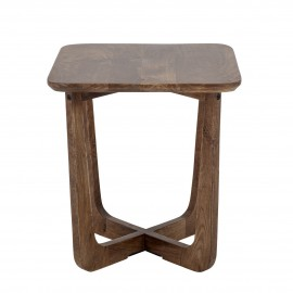bloomingville table d appoint bois fonce manguier massif rine