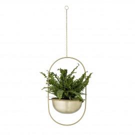 bloomingville porte plante suspendu metal dore style neo art deco