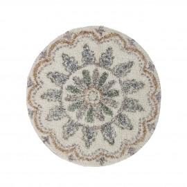 bloomingville tapis rond moelleux tufte motif couleur pastel deljon