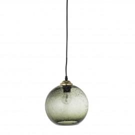 bloomingville suspension boule verre bulle vert style retro vintage