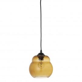 bloomingville suspension ronde en verre marron retro vintage
