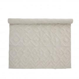 bloomingville tapis coton blanc motif relief billa 140 x 200 cm
