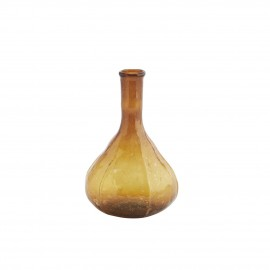 madam stoltz mini vase verre recycle marron ambre vintage