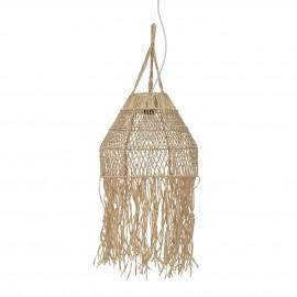 bloomingville suspension raphia naturel frange style boho