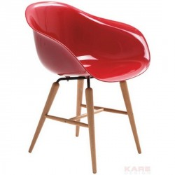 Fauteuil chaise design rouge kare forum