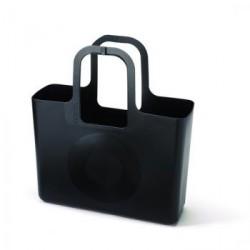 Cabas plastique design noir tasche koziol