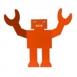 Patère rouge chambre enfant robot Albert