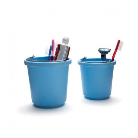 Porte brosses à dents rigolo bleu buckit pa design