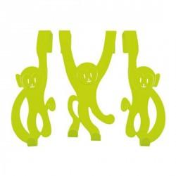 Porte manteau enfant singes vert present time HY0111LM