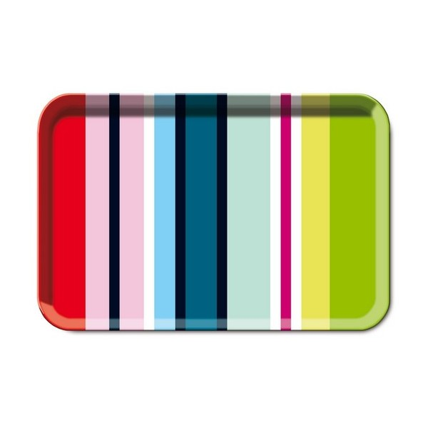 Plateau de cuisine service multicolore remember stripes - Plateau de service design ...