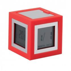 Petit réveil design rouge lexon cubissimo