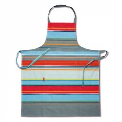 Tablier de cuisine coloré design remember stripy