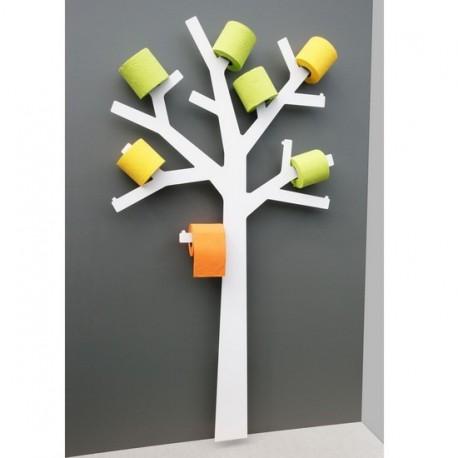 Réserve papier wc design arbre pqtier blanc presse citron