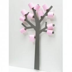 Réserve papier toilette design arbre qtier gris presse citron