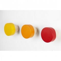 Patères multicolores bois clou eno studio couleurs chaudes