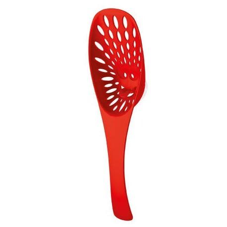 Cuillère passoire design rouge koziol mirko