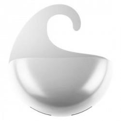 Rangement suspendu douche design blanc koziol surf M