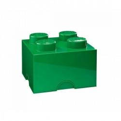 Boîte lego 4 plots M vert