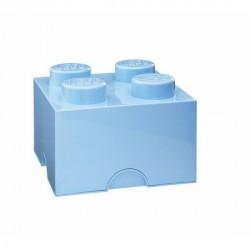 Brique lego 4 plots M bleu clair