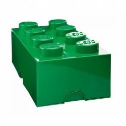 Lego boîte géante rangement L 8 plots vert foncé