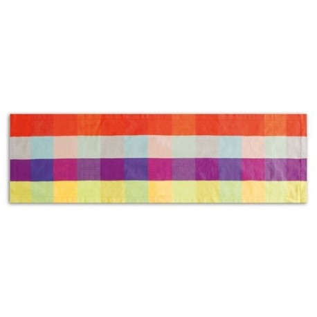 CHEMIN DE TABLE CARREAUX MULTICOLORE REMEMBER