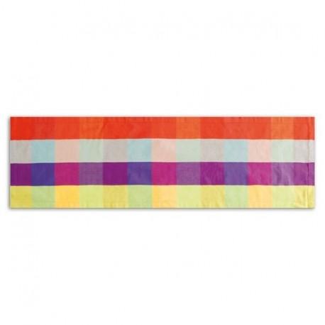 Chemin de table carreaux multicolore remember