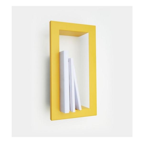 Etag re murale cadre jaune moutarde presse citron highstick - Etagere murale jaune ...