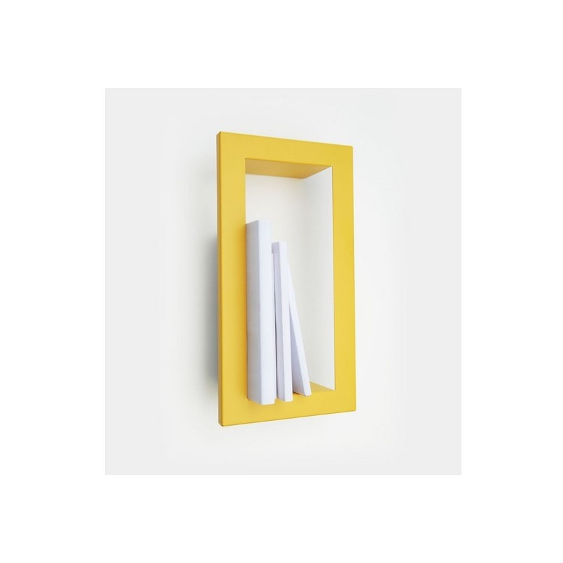 Etag re murale cadre jaune moutarde presse citron highstick for Etagere porte cadre photo
