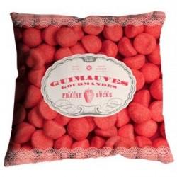 Coussin design fraises bonjour mon coussin 35 x 35