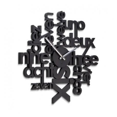 Horloge Murale Noire Design Umbra Lingua