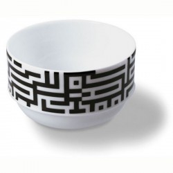 Remember MU06 Labyrinthe Design Porcelain Cereal Bowl