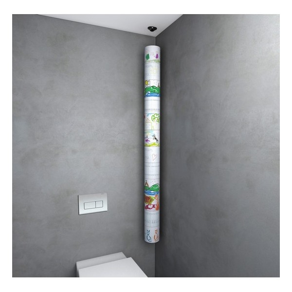 Porte rouleaux papier wc suspendu design roll 39 up lif - Porte rouleaux papier wc ...