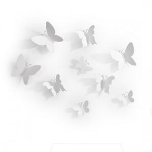 Umbra décoration murale papillons mariposa blanc