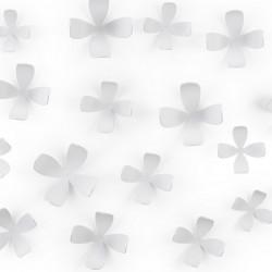 Décoration murale fleurs blanches umbra wallflower