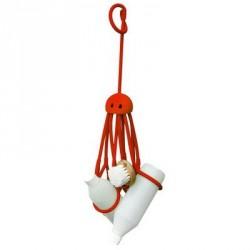 Accessoire design douche octopus rouge pa design