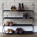 Etagère à chaussures design noire métal umbra imelda